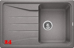 BLANCO Küchenspüle Sona 45 S Silgranit® PuraDur®II Granitspüle / Einbauspüle mit Handbetätigung in 8 Farben