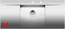 BLANCO Küchenspüle Flow 5 S-IF Edelstahlspüle / Einbauspüle Flachrand mit Ablaufsystem InFino und PushControl