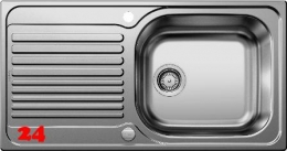 BLANCO Küchenspüle Tipo XL 6-S Einbauspüle / Edelstahlspüle Siebkorb als Drehknopfventil