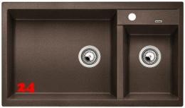 BLANCO Küchenspüle Metra 9 Silgranit® PuraDur®II Granitspüle / Einbauspüle mit Handbetätigung in 9 Farben