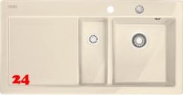 FRANKE Küchenspüle Mythos MTK 651-100-Keramik Fraceram Einbauspüle / Keramikspüle mit Druckknopfventil