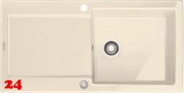FRANKE Küchenspüle Maris MRK 611-100-Keramik Fraceram Einbauspüle / Keramikspüle mit Druckknopfventil
