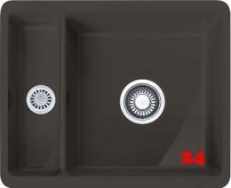 FRANKE Küchenspüle Kubus KBK 160 Keramik-UB Fraceram Unterbauspüle / Keramikspüle mit Druckknopfventil
