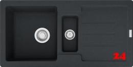 FRANKE Küchenspüle Strata STG 651-86 Fragranit+ Einbauspüle / Granitspüle Siebkorb als Stopfenventil