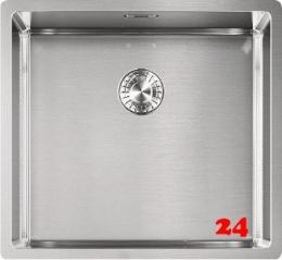 FRANKE Küchenspüle Box BXX 210-45/110-45 Einbauspüle 3 in 1 Siebkorb als Zugknopfventil