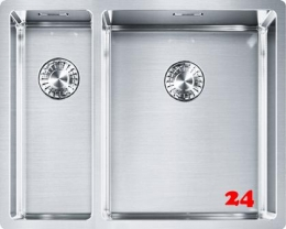 FRANKE Küchenspüle Box BXX 260/160-34-16 Einbauspüle 3 in 1 Siebkorb als Zugknopfventil
