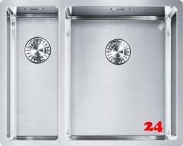 FRANKE Küchenspüle Box BXX 160-34-16-UB Einbauspüle / Unterbauspüle Siebkorb als Stopfenventil