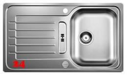 BLANCO Küchenspüle Zia 45 S Edelstahlspüle / Einbauspüle mit Siebkorb als Drehknopfventil