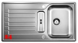BLANCO Küchenspüle Zia 5 S Edelstahlspüle / Einbauspüle Siebkorb als Drehknopfventil