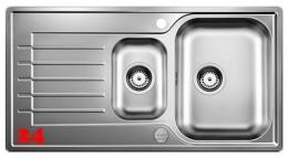 BLANCO Küchenspüle Zia 6 S Einbauspüle / Edelstahlspüle Siebkorb als Drehknopfventil