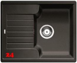 BLANCO Küchenspüle Zia 40 S Silgranit® PuraDur®II Granitspüle / Einbauspüle mit Handbetätigung in 9 Farben