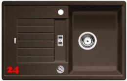BLANCO Küchenspüle Zia 45 S Silgranit® PuraDur®II Granitspüle / Einbauspüle mit Drehknopfventil in 9 Farben