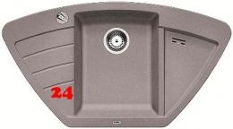 x BLANCO Eckspüle Zia 9 E Silgranit® PuraDur®II Granitspüle / Einbauspüle mit Drehknopfventil in 9 Farben