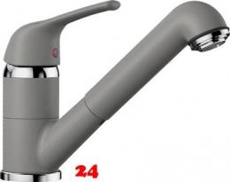 x BLANCO Küchenarmatur Vitis-S Silgranit®-Look Einhebelmischer mit Zugauslauf 200° schwenkbarer Auslauf in 8 Farben