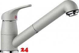 x BLANCO Küchenarmatur Daras-S Silgranit®-Look Einhebelmischer mit Zugauslauf 90° schwenkbarer Auslauf in 9 Farben