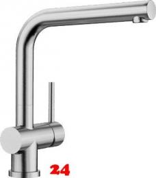 BLANCO Küchenarmatur Lomis Edelstahl massiv Einhebelmischer / Spültischarmatur mit Festauslauf 360° schwenkbarer Auslauf