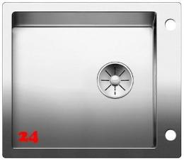 BLANCO Küchenspüle Claron XL 60 IF/A DampfgarPlus Edelstahlspüle Flachrand mit Ablaufsystem InFino und PushControl