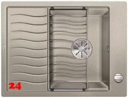 BLANCO Elon 45 S Silgranit® PuraDur®II Granitspüle / Einbauspüle Ablaufsystem InFino mit Drehknopfventil