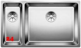 BLANCO Küchenspüle Andano 500/180-U Edelstahlspüle / Unterbaubecken mit Ablaufsystem InFino und Handbetätigung