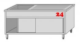 AfG Spültisch (1200x700) auf Unterbau VLA1127L-BL Gewerbespüle mit verschweißtem Untergestell