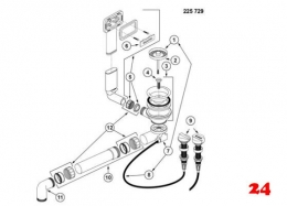 BLANCO Andano Ablaufgarnitur Komplett (225729)