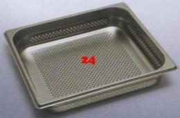 (170) Rieber Gastrobehälter Edelstahl 2/3 gelocht