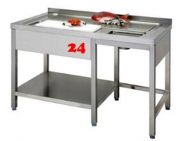 AfG Vorbereitungstisch für Fleisch oder Fisch (1600x700) VFT167 Gewerbespüle mit verschweißtem Untergestell