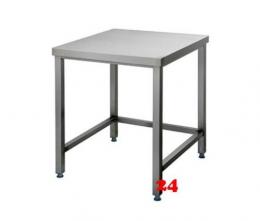 AfG Arbeitstisch ohne Grundboden (B800xT600) AT086 verschweißte Ausführung 3-seitig verstrebt ohne Aufkantung