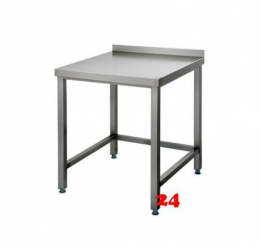 AfG Arbeitstisch ohne Grundboden mit Aufkantung (B600xT600) AT066A verschweißte Ausführung 3-seitig verstrebt