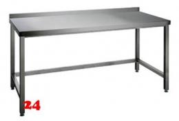 AfG Arbeitstisch ohne Grundboden mit Aufkantung (B1600xT600) AT166A verschweißte Ausführung 3-seitig verstrebt