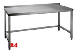 AfG Arbeitstisch ohne Grundboden mit Aufkantung (B2200xT600) AT226A verschweißte Ausführung 3-seitig verstrebt