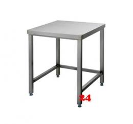 AfG Arbeitstisch ohne Grundboden (B400xT700) AT047 verschweißte Ausführung 3-seitig verstrebt ohne Aufkantung