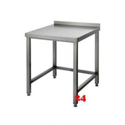 AfG Arbeitstisch ohne Grundboden mit Aufkantung (B600xT700) AT067A verschweißte Ausführung 3-seitig verstrebt