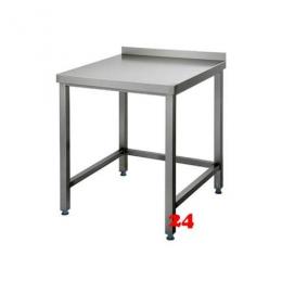 AfG Arbeitstisch ohne Grundboden mit Aufkantung (B800xT700) AT087A verschweißte Ausführung 3-seitig verstrebt