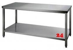AfG Arbeitstisch mit Grundboden (B700xT600) ATG076 verschweißte Ausführung Auflageboden verstärkt ohne Aufkantung