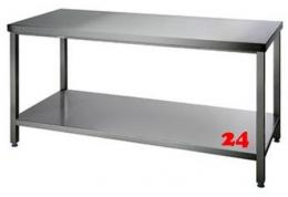 AfG Arbeitstisch mit Grundboden (B1500xT600) ATG156 verschweißte Ausführung Auflageboden verstärkt ohne Aufkantung