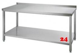 AfG Arbeitstisch mit Grundboden und Aufkantung (B1600xT600) ATG166A verschweißte Ausführung