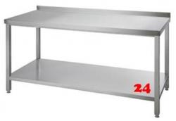 AfG Arbeitstisch mit Grundboden und Aufkantung (B2100xT600) ATG216A verschweißte Ausführung