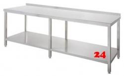 AfG Arbeitstisch mit Grundboden und Aufkantung (B2200xT600) ATG226A verschweißte Ausführung