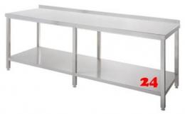 AfG Arbeitstisch mit Grundboden und Aufkantung (B2500xT600) ATG256A verschweißte Ausführung
