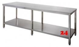 AfG Arbeitstisch mit Grundboden (B2500xT700) ATG257 verschweißte Ausführung Auflageboden verstärkt ohne Aufkantung