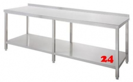 AfG Arbeitstisch mit Grundboden und Aufkantung (B2400xT700) ATG247A verschweißte Ausführung