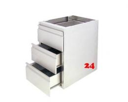 AfG Schubladenblock mit 3 Schubladen GN 1/1-150 SL37 Ausführung als Vollschublade passend für Gastronorm