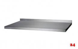 AfG Tischplatte mit Aufkantung 3100x600 TP316A verschweißte Ausführung 3-seitig mit Tropfkante
