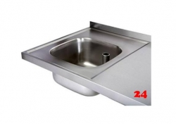 AfG Einschweißbecken (400x400) BE4425 für Einbau in Edelstahlarbeitsplatten Beckentiefe 250mm