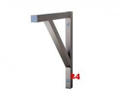 AfG Konsole 3-Eck-Form B500 KON50 aus 40x40 mm-Profil verschweißte Ausführung für Tischplatten