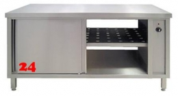 AfG Umluftwärmeschrank beidseitig mit Schiebetüren (B1700xT600) WS2176 Durchreicheschrank verschweißte Ausführung