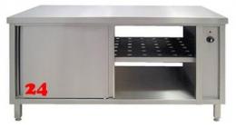AfG Umluftwärmeschrank beidseitig mit Schiebetüren (B1500xT700) WS2157 Durchreicheschrank verschweißte Ausführung