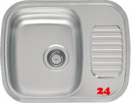 REGINOX Küchenspüle Regidrain (R) OKG Einbauspüle Edelstahl mit Einbaurand Siebkorb als Stopfenventil