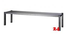 AfG Aufsatzbord 1-etagig zur Montage auf Tischplatten (B2000xT300) AB203 verschweißte Ausführung